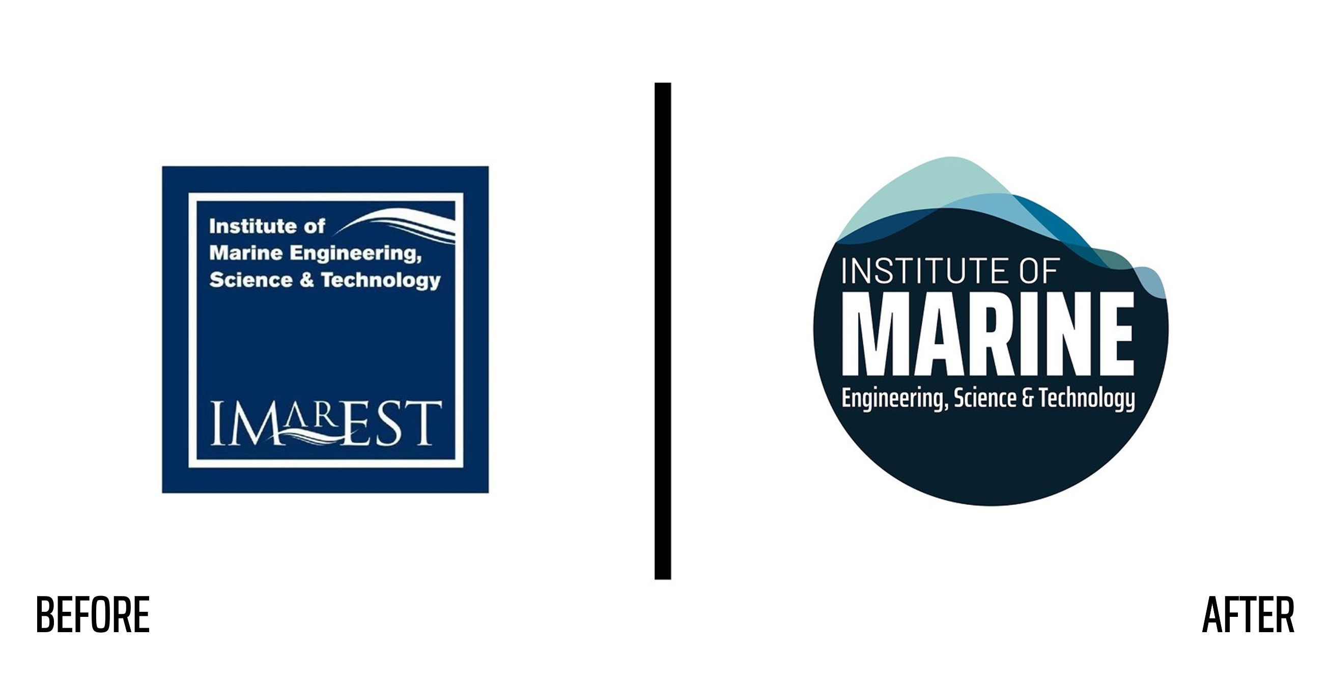 IMarEST logo before after rebrand