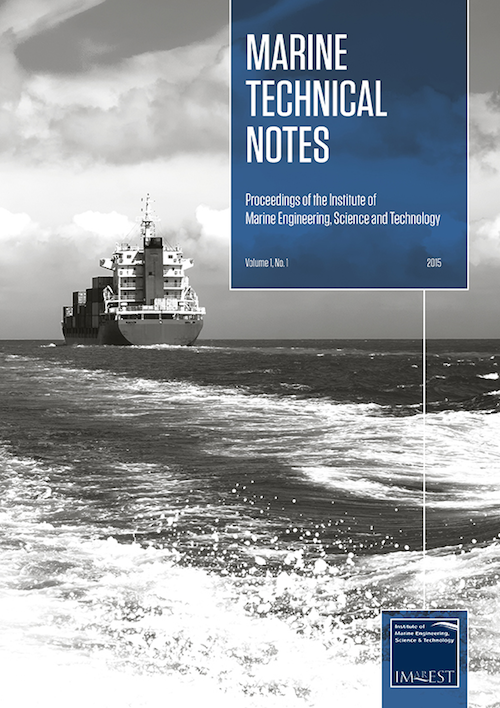 Marine Technical Notes Cover