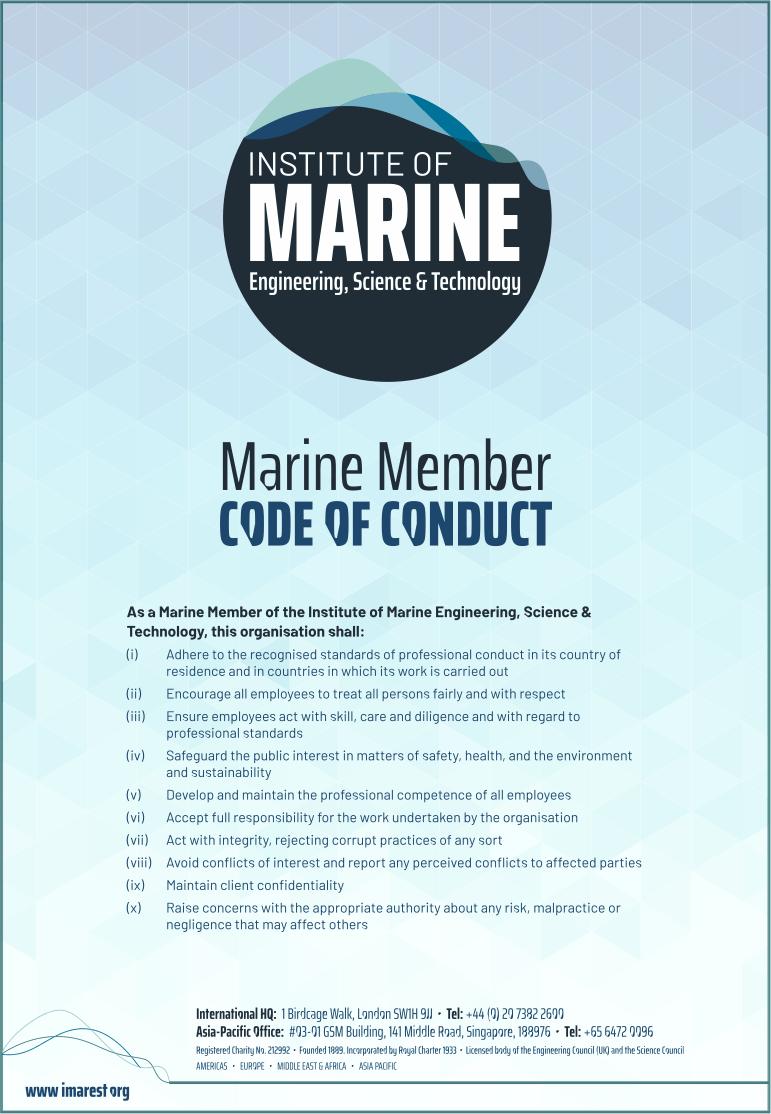 Marine Member Code of Conduct