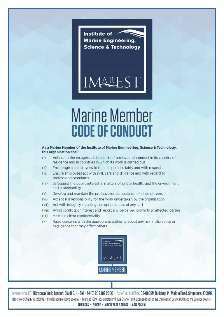 Marine Member Code of Conduct