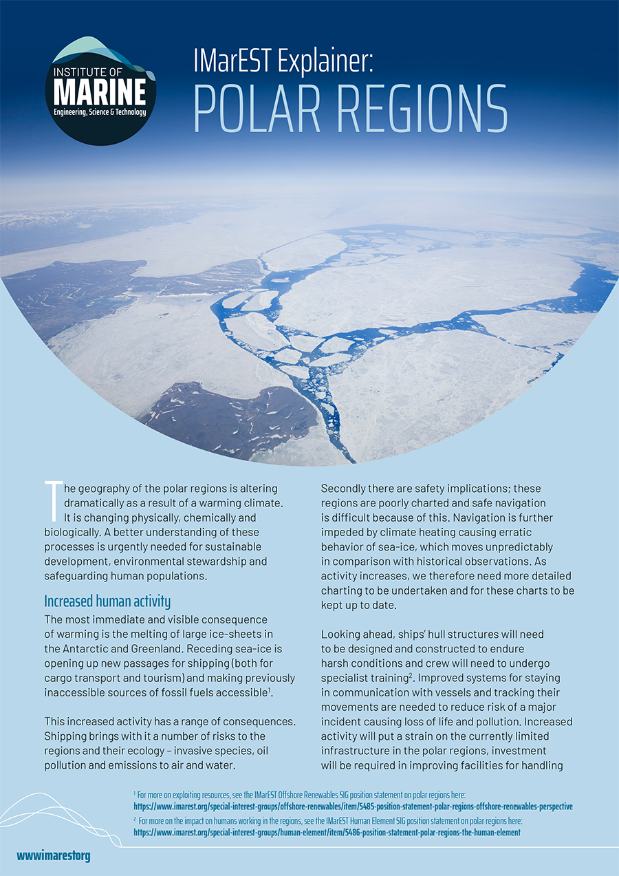 IMarEST Explainer: Polar Regions