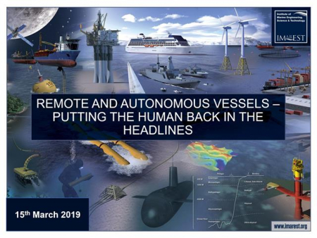 Remote and autonomous vessels – putting the human back in the headlines