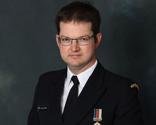 Royal New Zealand Navy marine engineer - Lt. Marc Griffiths