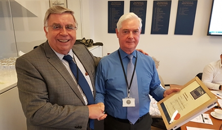 IMarEST President's Commendation awarded to George Ferrier