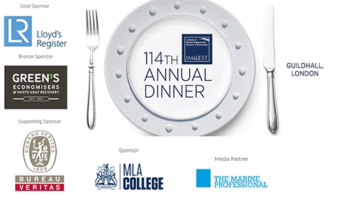 Lloyd's Register, Green's, Bureau Veritas & MLA College sponsor IMarEST 114th Annual Dinner