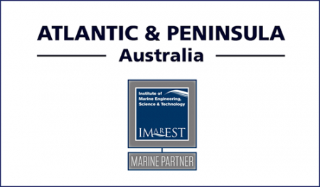 Atlantic & Peninsula Australia Renews Marine Partnership with IMarEST