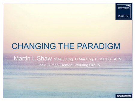 Changing the paradigm in the marine industry