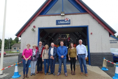 Members of the IMarEST Scottish Branch at RNLI Helensburgh