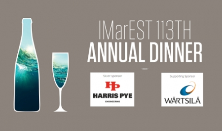 Harris Pye confirmed Silver sponsor and Wärtsilä as Supporting sponsor at IMarEST 113th Annual Dinner 2016