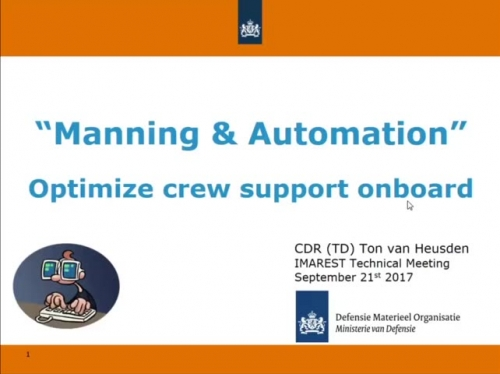 Manning & Automation - Optimize crew support onboard