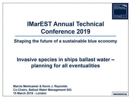 Invasive species in ships ballast water- planning for all eventualities