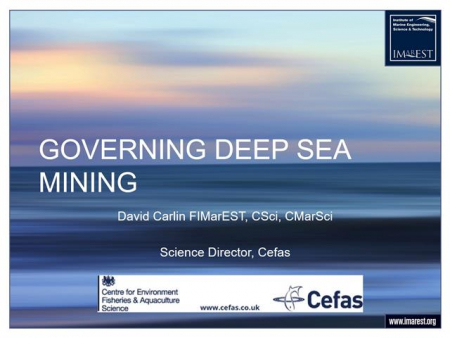 Governing deep seabed mining