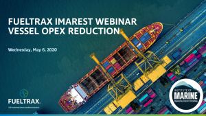 FUELTRAX & IMarEST UAE host webinar on vessel OPEX reduction with EFMS