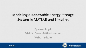 Student Papers Night - Modeling a Renewable Energy Storage System in MATLAB and Simulink