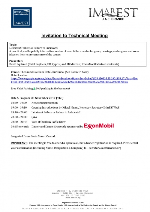 INVITATION: technical meeting 23 Nov