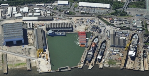 Arial View of Cammell Laird Shipyard