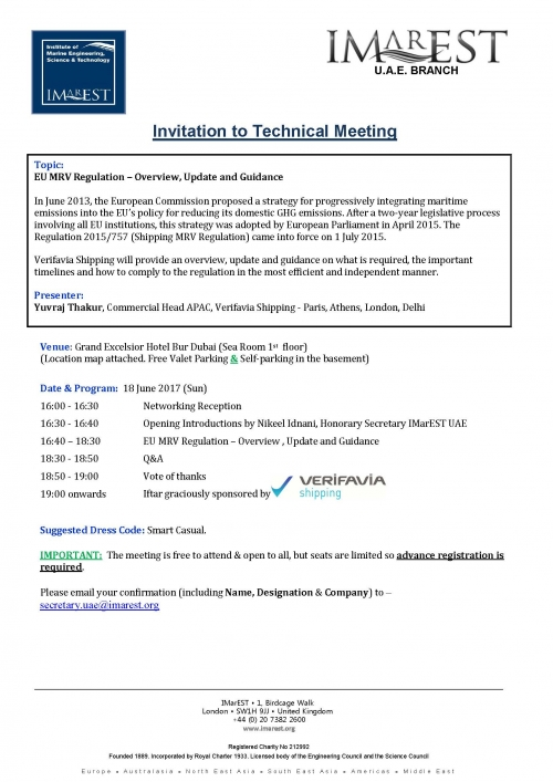 Invitation: Technical meeting – 18 June