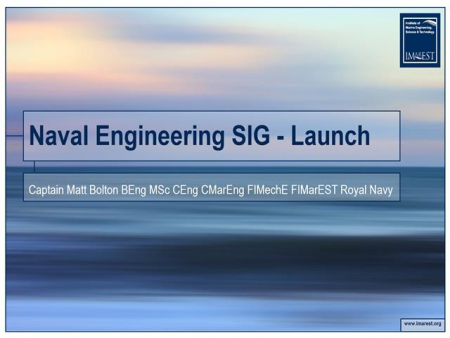 Launch of the New Naval Engineering Special Interest Group
