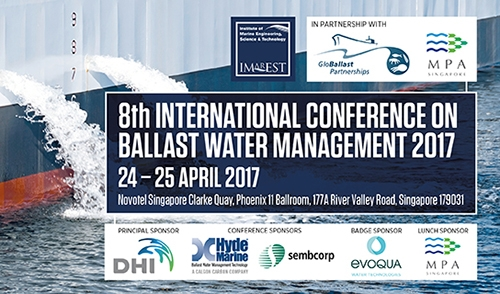 Ahead of Convention coming into force - the 8th International Conference on Ballast Water Management