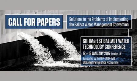 Call for papers: 6th Ballast Water Technology Conference