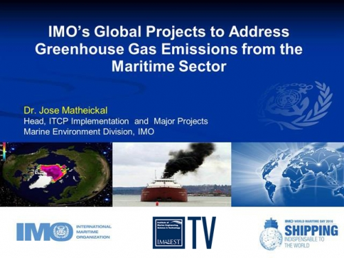 IMO's Global Projects to Address Greenhouse Gas Emissions from the Maritime Sector