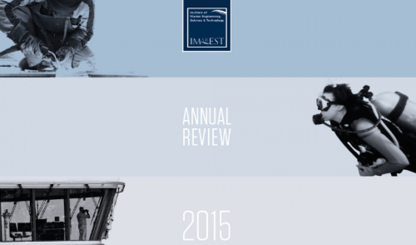 IMarEST Annual Review 2015 now available