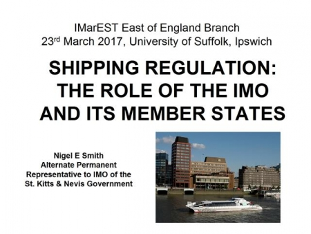 Shipping Regulation: The Role of the IMO and its Member States