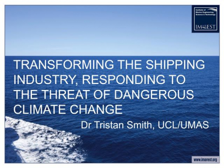 Transforming the shipping industry – responding to the threat of dangerous climate change