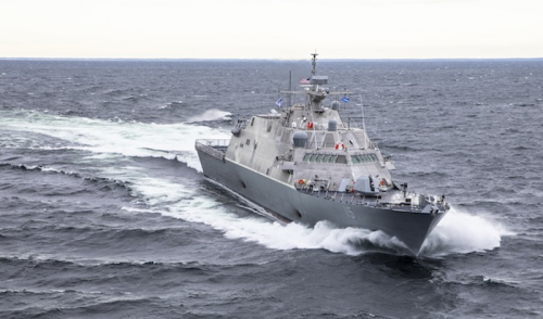 US combat ship hits moored freighter in Canada