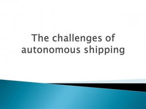 The Challenges of Autonomous Shipping