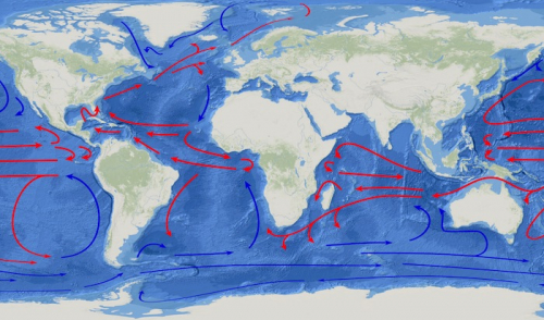 Major wind-driven ocean currents 'are shifting towards the poles'