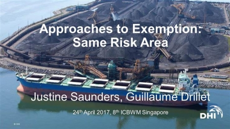 Exemptions to Ballast Water Management & the Same Risk Area Approach