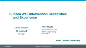 Subsea Well Intervention Capabilities and Experience