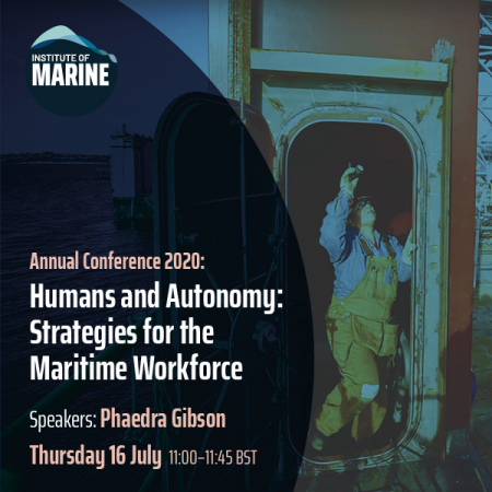Annual Conference 2020 - Humans and Autonomy: Strategies for the Maritime Workforce