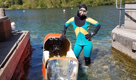 What's it like to pilot a human-powered submarine?