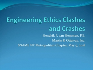 Engineering Ethics Clashes and Crashes