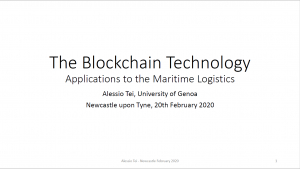 Blockchain Technology - Does it have a role in Maritime Logistics?