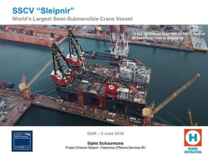 "SSCV ""Sleipnir"" - World's Largest Semi-Submersible Crane Vessel"
