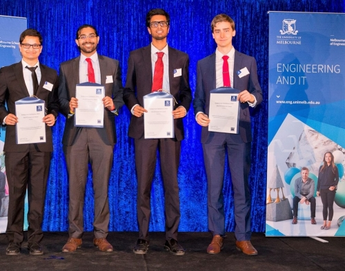 IMarEST Victoria Branch Prize winners - Melbourne University Endeavour Awards 2018