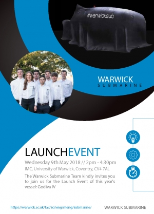 Branch attends the launch of Warwick Submarine Team's new vessel ahead of eISR 2018