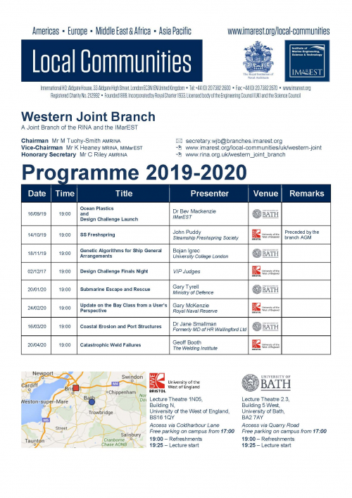2019-2020 Lecture Programme