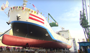 Japanese yard launches world's first liquefied hydrogen carrier