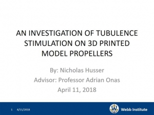 Student Papers Night - An Investigation of Turbulence Stimulation on Propellers