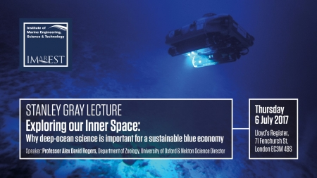 Stanley Gray Lecture - Exploring our Inner Space: Why deep-ocean science is important for a sustainable blue economy