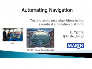 Automating Navigation - Testing avoidance algorithms using a nautical simulation