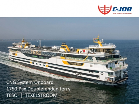 The CNG System onboard the 1750 PAX double-ended ferry Teso Texelstroom