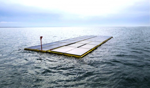 World's first offshore floating solar farm installed in North Sea