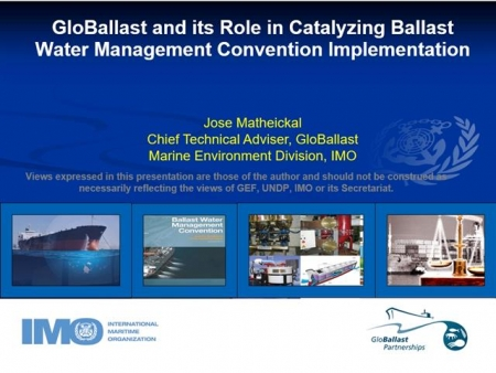 GloBallast and the evolution of the BWM Convention