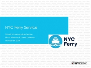 NYC Ferry Service - Building a Ferry Based Transit System from the Ground Up